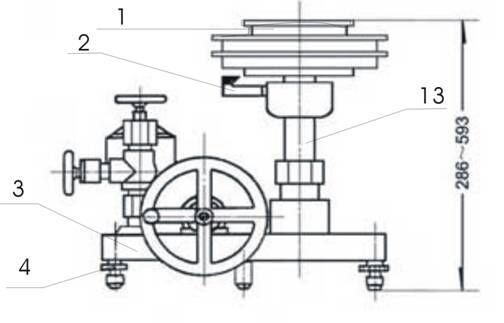 YS-60活塞式压力计的结构
